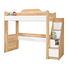 Bernice-貝爾3.5尺單人高層床架(床架+樓梯收納櫃)(不含床墊)