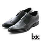 【bac】隱藏增高 內增高歐風造型紳士鞋-黑