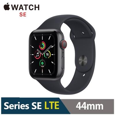 (新版) Apple Watch SE 44mm 鋁金屬錶殼配運動錶帶(GPS+Cellular版)