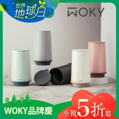 【WOKY 沃廚】360° 輕芯鈦瓷真空雙蓋保溫杯600ml(帽子杯)