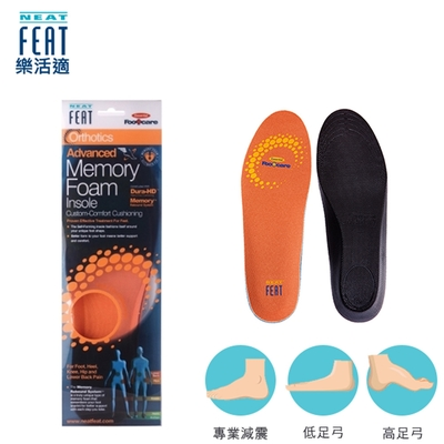 【Neat Feat 樂活適】智能記憶腳型鞋墊 紐西蘭 原裝公司貨