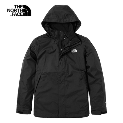 THE NORTH FACE 男款 防水透氣連帽衝鋒衣 黑-NF0A4UAUJK3