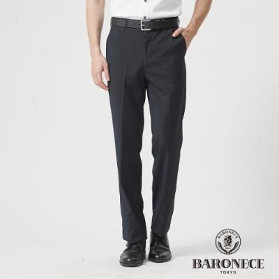 BARONECE 百諾禮士休閒商務  男裝 伸縮調節腰頭直紋平口西裝褲--深灰色(1188857-97)