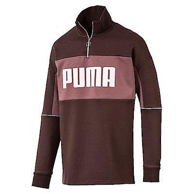 PUMA-男性流行系列Retro圓領衫-鼴鼠褐-亞規