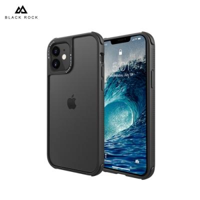 德國 Black Rock 超衝擊抗摔保護殼-iPhone 12 Mini (5.4 )-透明黑框