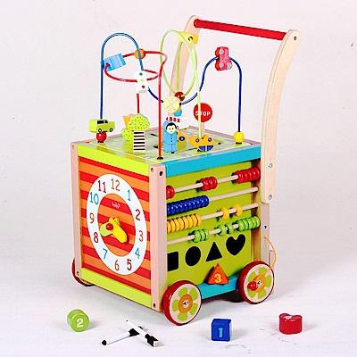 Boby 木製多功能寶寶串珠學習手推學步車(12m+)