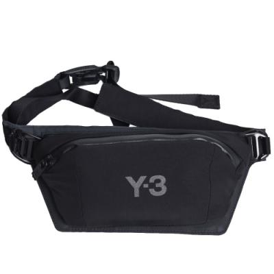 Y-3 CH1 Belt Bag 品牌字母圖騰LOGO可拆式雙層腰包(黑色)