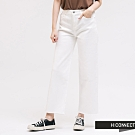 H:CONNECT 韓國品牌 女裝 -不收邊修身寬褲-白