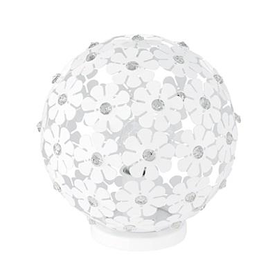 EGLO歐風燈飾 現代白花漾燈罩檯燈/床頭燈(不含燈泡)