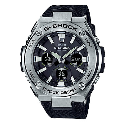 G-SHOCK高強度輕量化分層防護太陽能運動錶(GST-S130C-1)銀框52.4mm