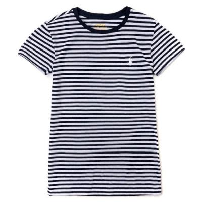 Polo Ralph Lauren 經典小馬條紋短袖T恤(女)-深藍白色