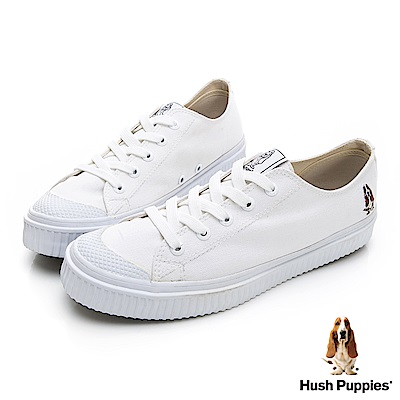 Hush Puppies 韓系粉彩咖啡紗餅乾鞋-白色