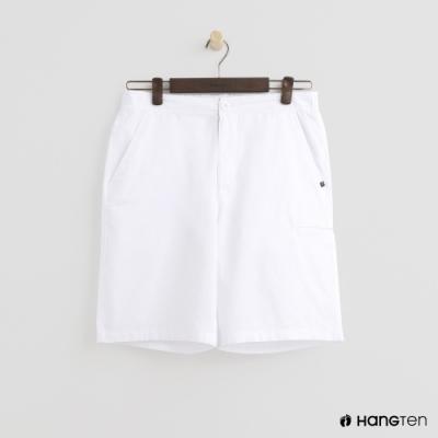 Hang Ten - 男裝 - ThermoContro-素面口袋休閒短褲 - 白