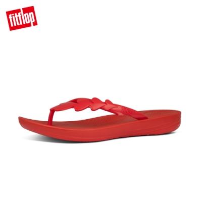 FitFlop IQUSHION VALENTINE FLIP-FLOPS 愛心裝飾輕量人體工學戲水夾腳涼鞋-女(紅色)