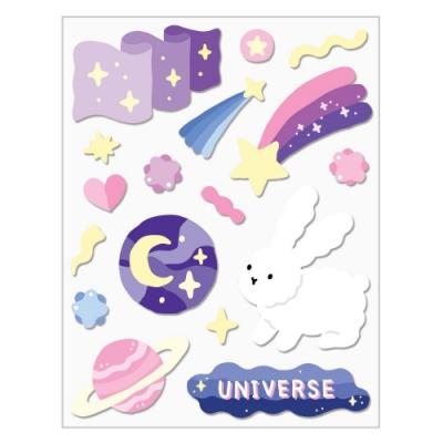7321 Design GGU GGU手帳裝飾貼紙-星空兔