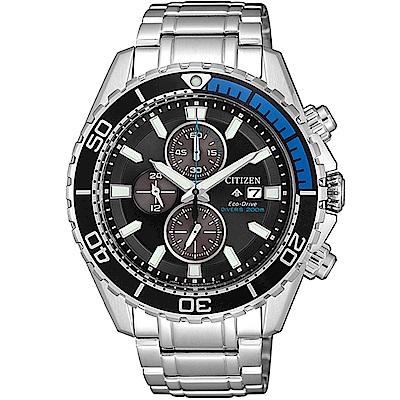 CITIZEN星辰 PROMASTER光動能限量碼錶計時腕錶-藍CA0719-53E