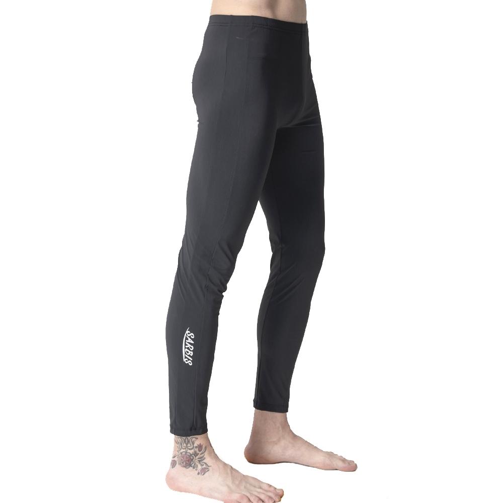 沙兒斯 運動服 水陸兩用深藍素面緊身運動機能長褲