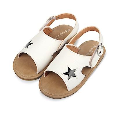 BuyGlasses 可愛小星星兒童涼鞋-白