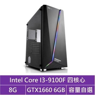 技嘉B365平台[飛馬武神]i3四核GTX1660獨顯電腦