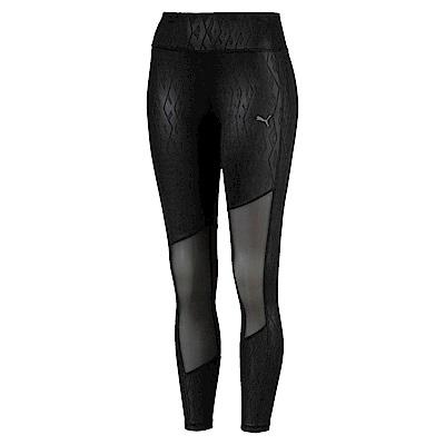 PUMA-女性訓練系列印花9分緊身褲-黑色-歐規