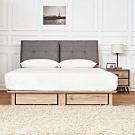 時尚屋  奧爾頓橡木6尺床箱型抽屜式加大雙人床(不含床頭櫃-床墊)