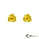 MANSTYLE 玫瑰緣 黃金耳環 (約0.44錢)