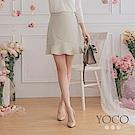 東京著衣-YOCO 俏麗青春小魚尾錯位短裙-S.M.L(共三色)