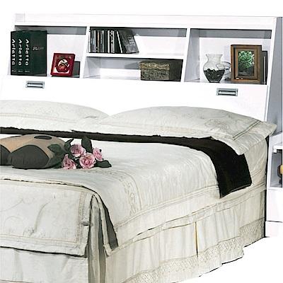 綠活居 波羅利時尚6尺木紋雙人加大床頭箱(二色可選)-180x30x105cm-免組
