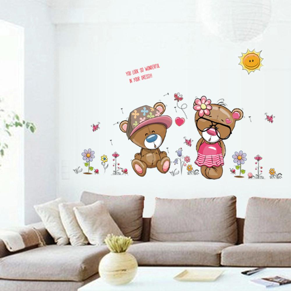 半島良品 DIY無痕壁貼-戀愛小熊 SK7009 50x70cm