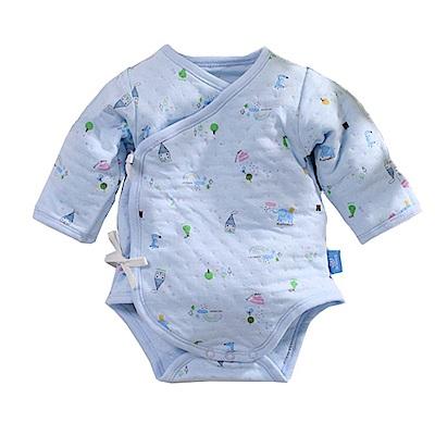 三層棉印花厚款護手連身衣 b0082 魔法Baby