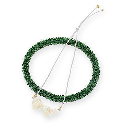 JewCas Lucky Barcelect系列貝殼白繩幸運手環
