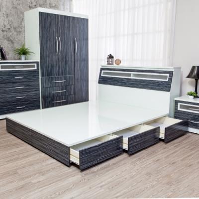 Birdie南亞塑鋼-3.5尺單人三抽屜塑鋼床組(床頭箱+抽屜床底)(鐵刀木色)