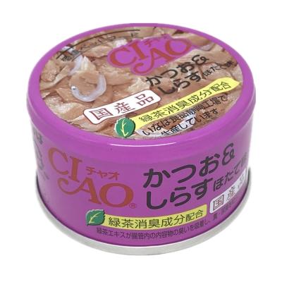 日本 CIAO 旨定罐 A-12 鰹魚&吻仔魚&干貝 85g