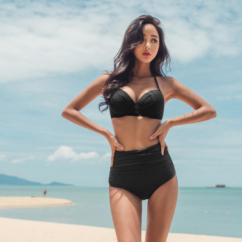 Biki比基尼妮泳衣   杰愛高腰遮腹二件式泳衣泳裝比基尼(M-XL)