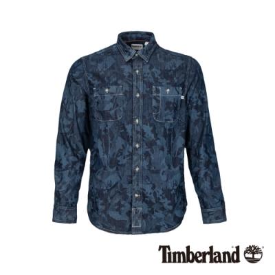 Timberland 男款隨洗色牛仔工裝長袖襯衫|A1ZZH