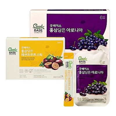 【正官庄】高麗蔘野櫻莓飲 (50mlX30入)/盒 +高麗蔘百香飲Stick(10mL*30包)/盒
