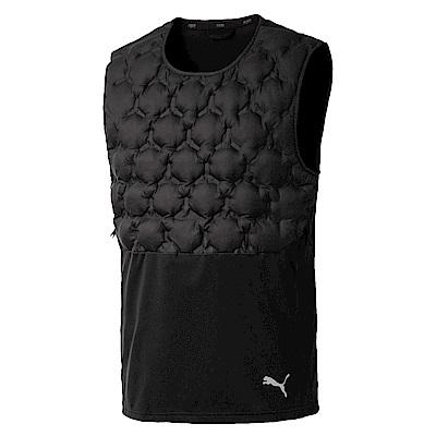 PUMA-男性訓練系列NerverRunBack鋪棉背心-黑色-歐規