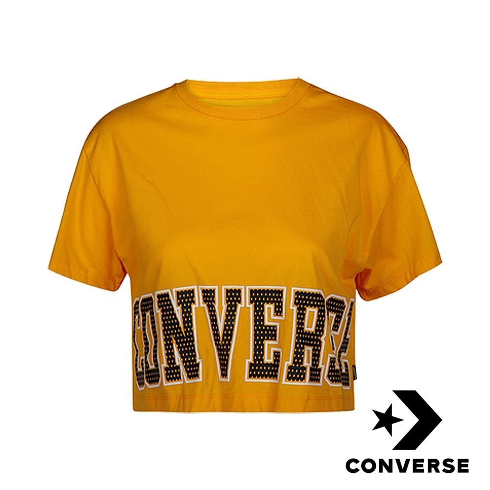 CONVERSE HERITAGE 美式復古女短版T恤 黃 10007082-A04