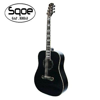 SQOE A780 BK 面單雲杉民謠木吉他