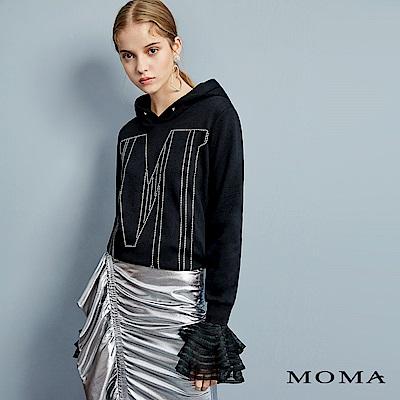 MOMA 燙鑽刷毛連帽T
