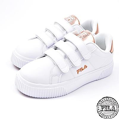 FILA女款韓版  厚底黏扣鞋 休閒鞋 5-C601S-800