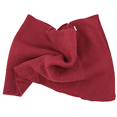 COACH經典C LOGO針織羊毛圍巾(紅)