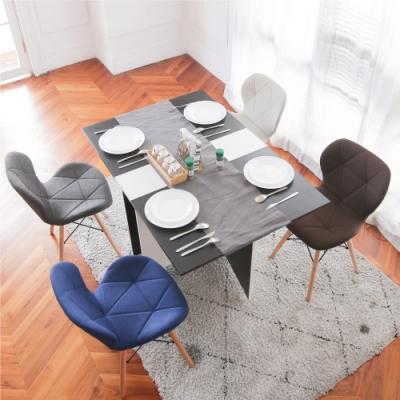 完美主義 復古北歐風餐椅/楓木椅/電腦椅/化妝椅-4入組(5色)