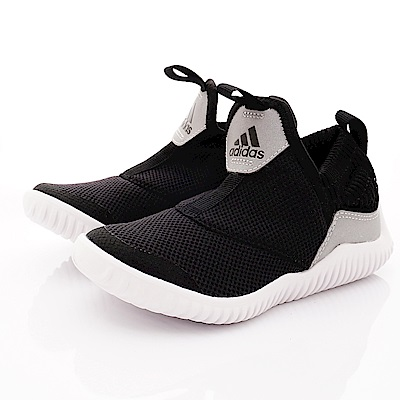 adidas童鞋 簡約輕便休閒鞋款 NI6858黑(中小童段)