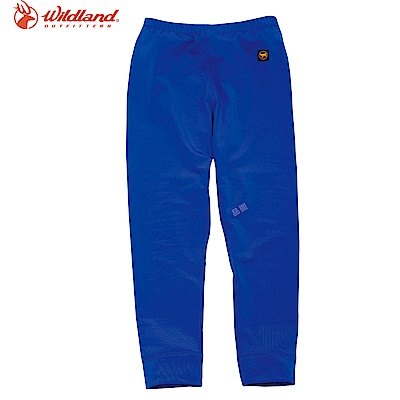 【Wildland 荒野】童遠紅外線彈性保暖褲藍
