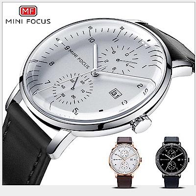 美國熊 大三針 日期顯示 極簡風格 弧形錶面 腕錶