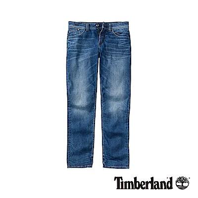 Timberland 男款中藍色彈力修身牛仔褲|A1NRK