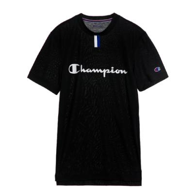 Champion 冠軍 美版印刷文字短袖圖案T恤-黑色