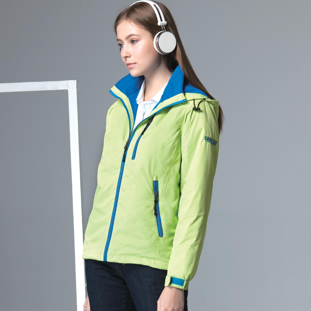 聖手牌 外套 綠色系刷毛運動休閒連帽外套