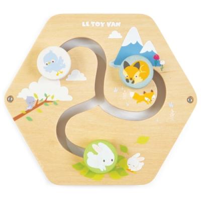 英國 Le Toy Van- Petilou系列啟蒙玩具系列-森林跑跑瓦片啟蒙玩具